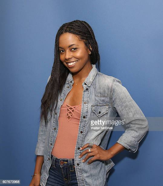 Adrienne Warren attends Broadway for Hillary presents Broadway calls for Clinton at Telsey Company Studios on September 18 2016 in New York City