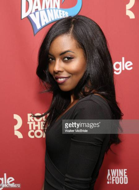 Adrienne Warren attends the cast party for the Roundabout Theatre Company presents a OneNight Benefit Concert Reading of 'Damn Yankees' at the...