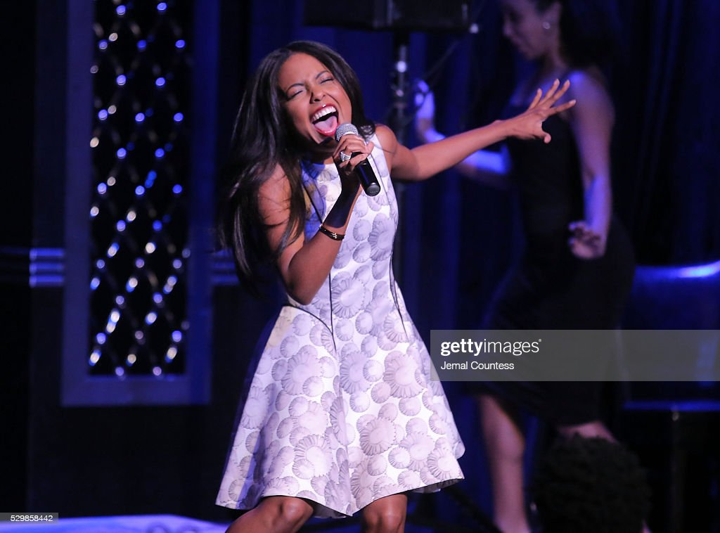 Adrienne Warren performs onstage at the 16th Annual Monte Cristo Award ceremony honoring George C Wolfe presented by The Eugene O'Neill Theater...