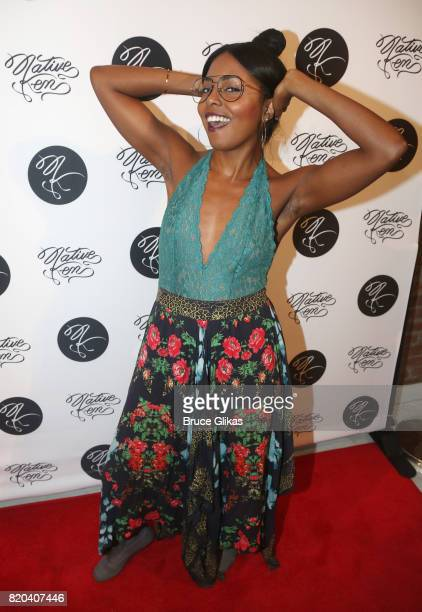 Adrienne Warren poses at the Native Ken Eyewear NYC Launch Party at Native Ken on July 20 2017 in New York City