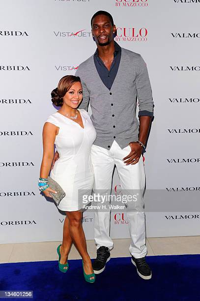 Adrienne Williams and Chris Bosh attend Andy Valmorbida Jimmy Iovine And Sean 'Diddy' Combs Celebrate Culo By Mazzucco Presented By VistaJet at Mr...