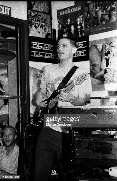 AdRock of the Beastie Boys performs at a secret gig in the basement of Slam City Skates shop Covent Garden London United Kingdom 1994