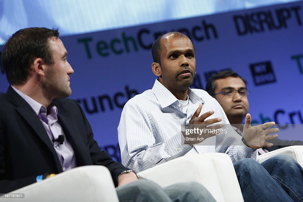 Your Eyeballs Are Money: panel (L-R): Kevin Weil, Gokul Rajaram and Neal Mohan speak onstage at the TechCrunch Disrupt NY 2013 at The Manhattan Center on April 30, 2013 in New York City.