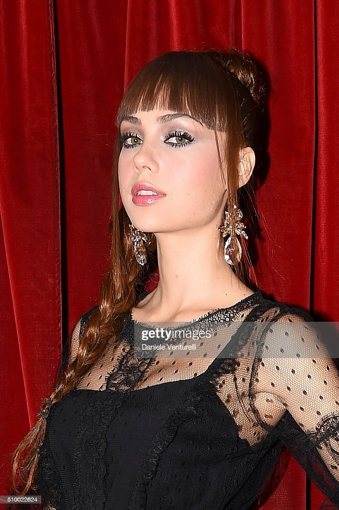 Adua Del Vesco attends the closing night of 66th Festival di Sanremo 2016 at Teatro Ariston on February 13, 2016 in Sanremo, Italy.