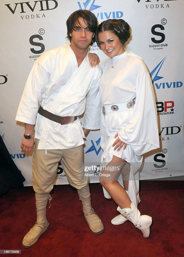 Adult actor Seth Gamble and adult actress Allie Haze arrive for the Premiere Of Vivid Entertainment's 'Star Wars