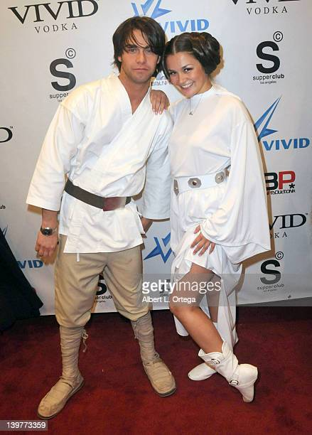 Adult actor Seth Gamble and adult actress Allie Haze arrive for the Premiere Of Vivid Entertainment's 'Star Wars XXX A Porn Parody' held at...