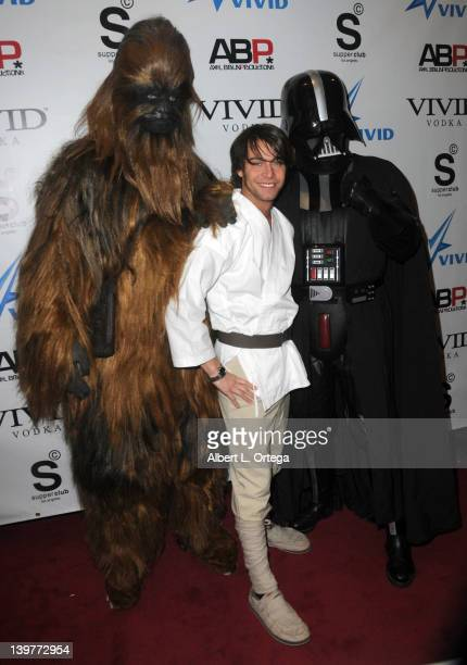Adult actor Seth Gamble arrives for the Premiere Of Vivid Entertainment's 'Star Wars XXX A Porn Parody' held at SupperClub on February 23 2012 in...