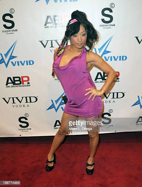 Adult actress Gaia arrives for the Premiere Of Vivid Entertainment's 'Star Wars XXX A Porn Parody' held at SupperClub on February 23 2012 in...
