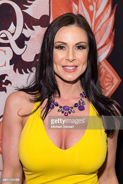 Adult actress Kendra Lust visits HeadQuarters on March 27 2014 in New York City
