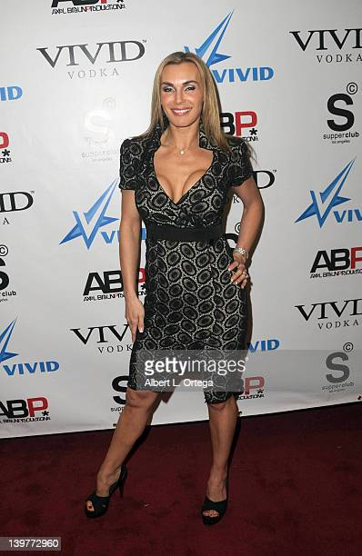 Adult actress Tanya Tate arrives for the Premiere Of Vivid Entertainment's 'Star Wars XXX A Porn Parody' held at SupperClub on February 23 2012 in...