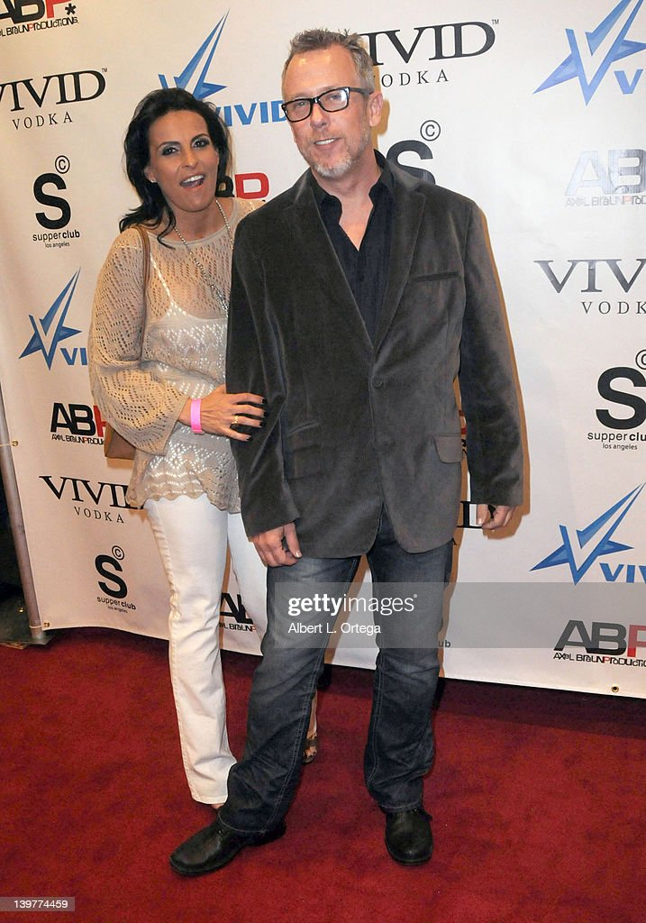 Adult actress Tori Wells and adult actor Tom Byron arrive for the Premiere Of Vivid Entertainment's 'Star Wars
