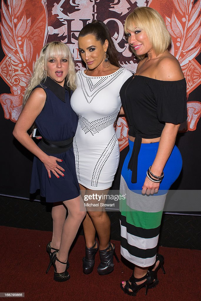 Adult actresses Lexi Love, Lisa Ann and Mellanie Monroe attend Lisa Ann's Birthday Celebration at Headquarters on May 7, 2013 in New York City.