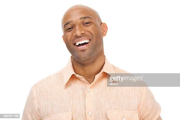 Adult attractive man smiling headshot looking at camera