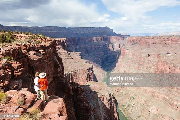Adult couple at Grand Canyon, Arizona, USA