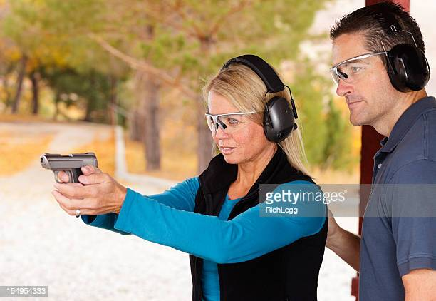 Adult Couple at the Shooting Range