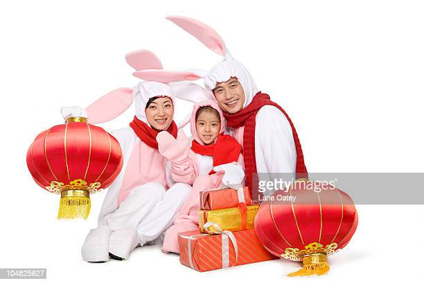Adult couple celebrating the Year of the Rabbit