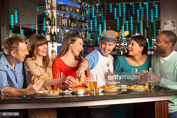 Adult Couples Night Out Restaurant Bar Laughing