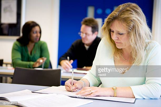adult education: classroom concentration