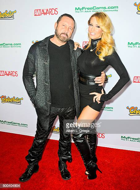 Adult film actor Brad Armstrong and actress Jessica Drake at the 2016 AVN Awards Nomination Party held at Avalon on November 19 2015 in Hollywood...