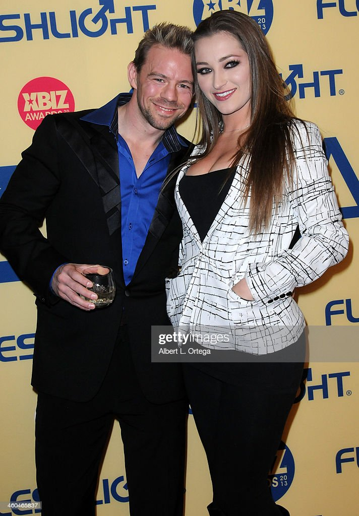 Adult film actor Erik Everhard and adult film actress Dani Daniels arrive for the 2013 XBIZ Awards held at the Hyatt Regency Century Plaza on January 11, 2013 in Century City, California.