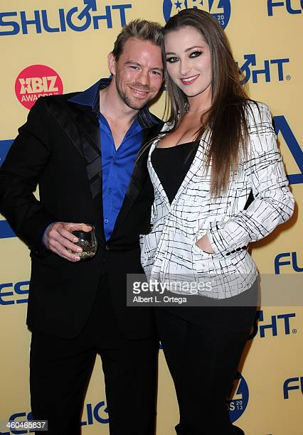 Adult film actor Erik Everhard and adult film actress Dani Daniels arrive for the 2013 XBIZ Awards held at the Hyatt Regency Century Plaza on January...