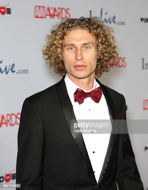 Adult film actor Michael Vegas arrives at the 2015 Adult Video News Awards at the Hard Rock Hotel Casino on January 24 2015 in Las Vegas Nevada