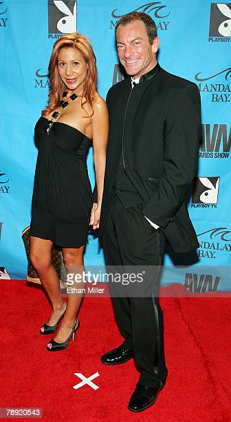 Adult film actor Randy Spears and his wife Demi Delia arrive at the 25th annual Adult Video News Awards Show at the Mandalay Bay Events Center...
