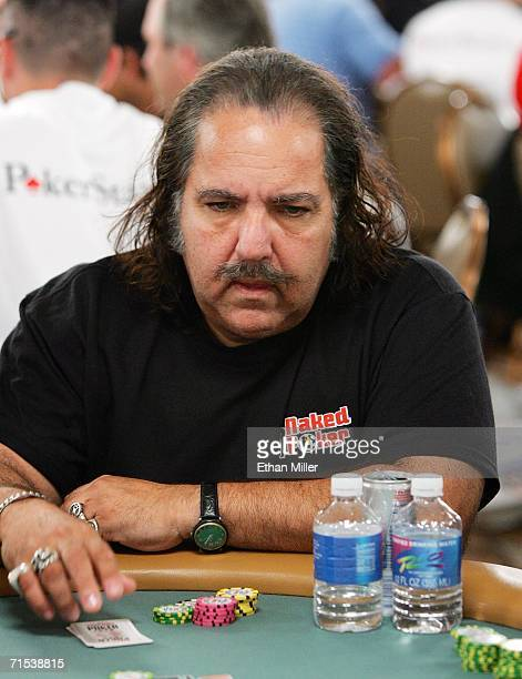 Adult film actor Ron Jeremy competes on the second day of the first round of the World Series of Poker nolimit Texas Hold 'em main event at the Rio...