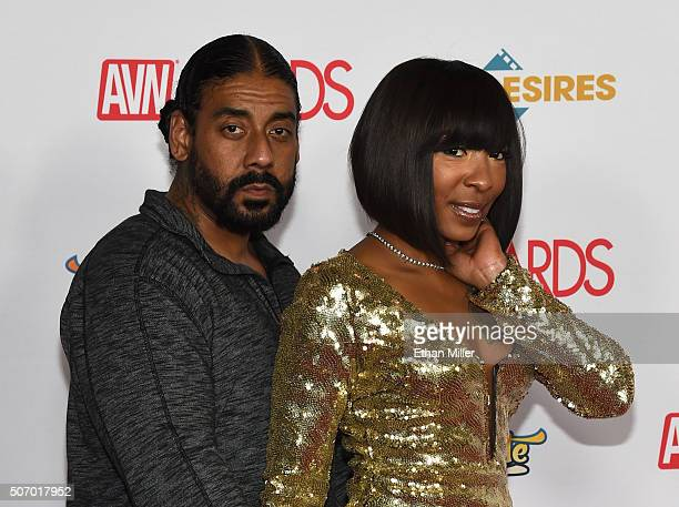 Adult film actor/author Suave XXX and adult film actress Roxy Reynolds attend the 2016 Adult Video News Awards at the Hard Rock Hotel Casino on...
