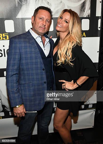 Adult film actor/director Brad Armstrong and his wife adult film actress/director jessica drake appear at the Wicked Pictures booth at the 2017 AVN...