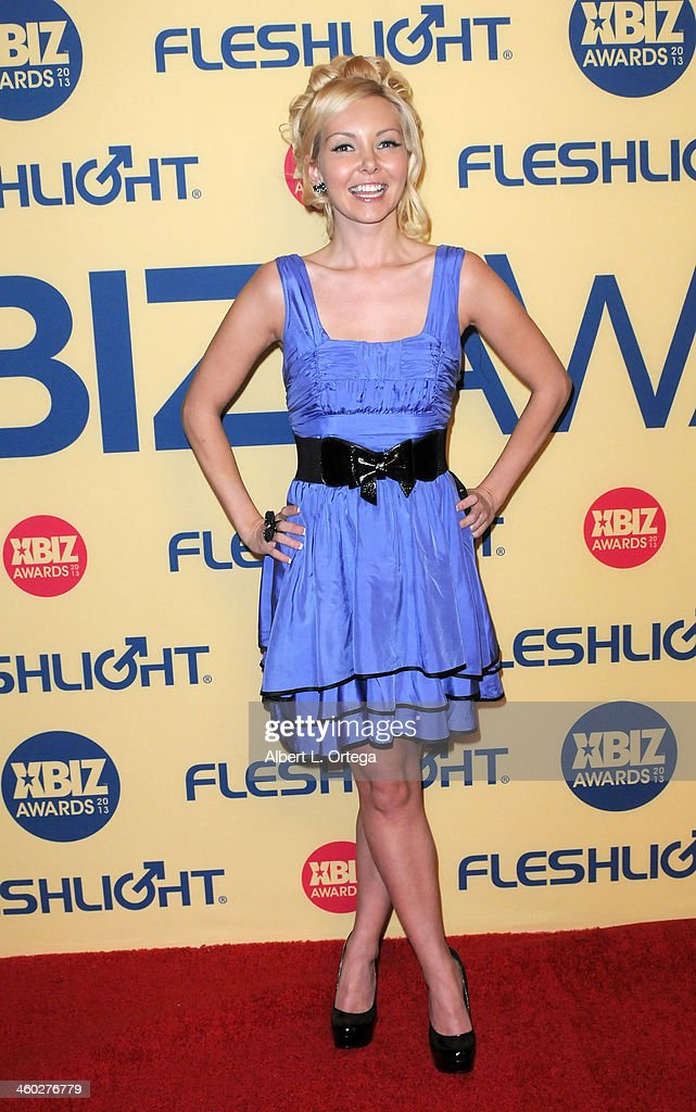 Adult film actress Aaliyah Love arrives for the 2013 XBIZ Awards held at the Hyatt Regency Century Plaza on January 11, 2013 in Century City, California.