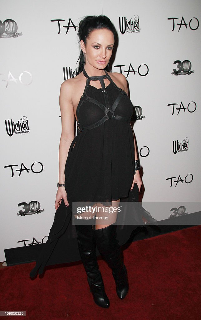 Adult film actress Alektra Blue attends the official AVN Awards pre-party at the Tao Nightclub at The Venetian on January 17, 2013 in Las Vegas, Nevada.