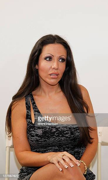 Adult film actress Amy Fisher attends Celebrity Fight Night Official Press Conference at 9021GO Showroom on September 26 2011 in Beverly Hills...