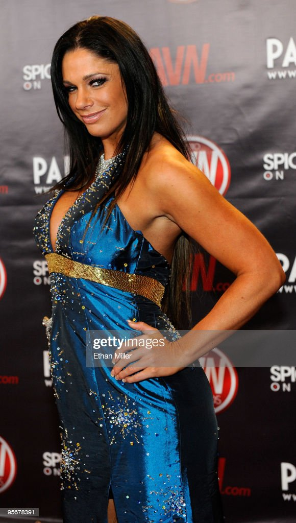 Adult film actress Angela Aspen arrives at the 27th annual Adult Video News Awards Show at the Palms Casino Resort January 9, 2010 in Las Vegas, Nevada.