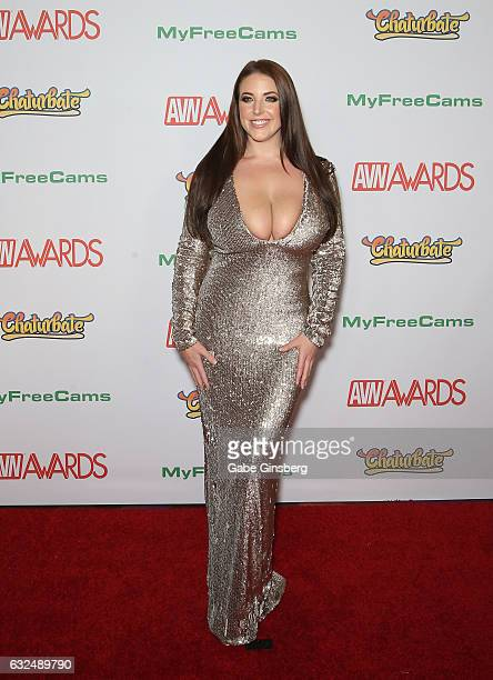 Adult film actress Angela White attends the 2017 Adult Video News Awards at the Hard Rock Hotel Casino on January 21 2017 in Las Vegas Nevada