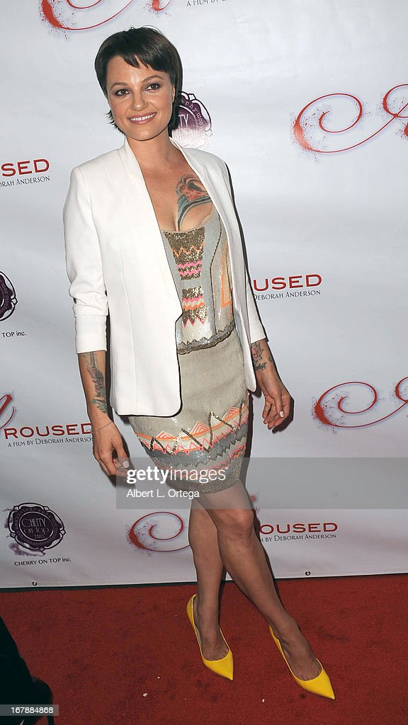 Adult film actress Belladonna arrives for the Premiere Of 'Aroused' held at Landmark Nuart Theatre on May 1, 2013 in Los Angeles, California.