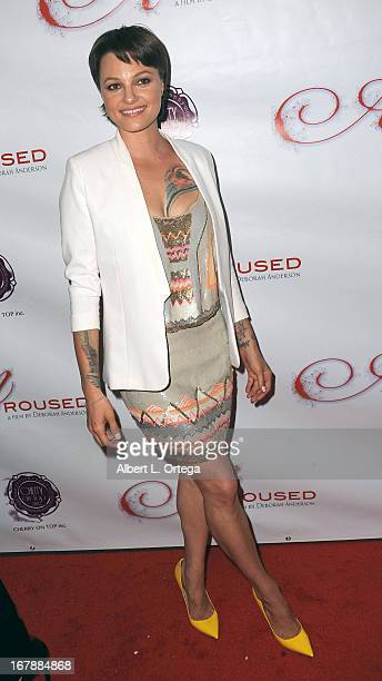 Adult film actress Belladonna arrives for the Premiere Of 'Aroused' held at Landmark Nuart Theatre on May 1 2013 in Los Angeles California