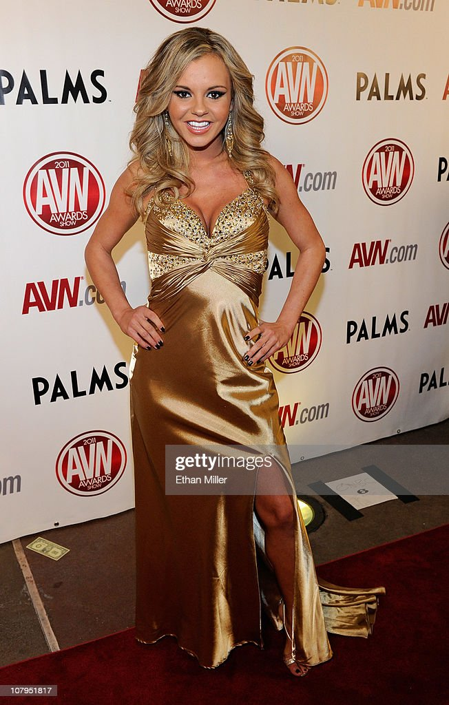 Adult film actress Bree Olson arrives at the 28th annual Adult Video News Awards Show at the Palms Casino Resort January 8 2011 in Las Vegas Nevada