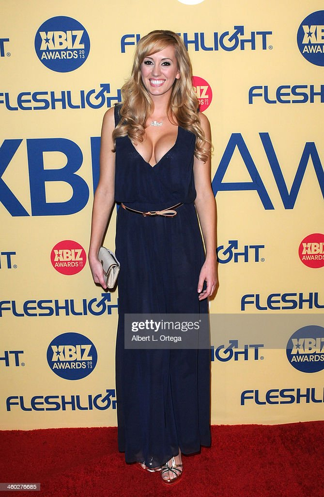 Adult Film actress Brett Rossi arrives for the 2013 XBIZ Awards held at the Hyatt Regency Century Plaza on January 11, 2013 in Century City, California.
