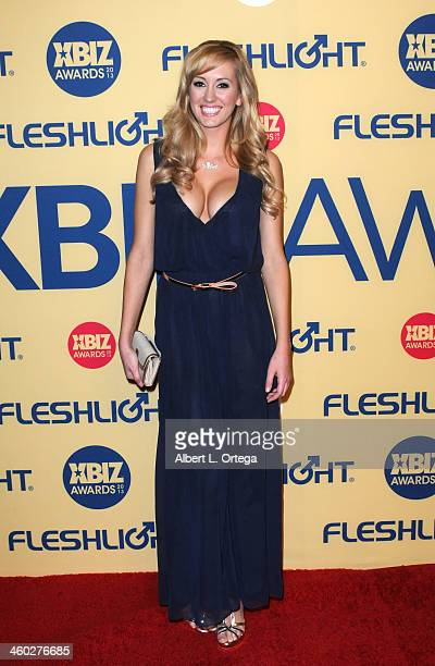 Adult Film actress Brett Rossi arrives for the 2013 XBIZ Awards held at the Hyatt Regency Century Plaza on January 11 2013 in Century City California