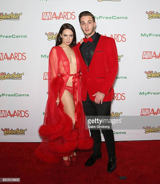 Adult film actress Cassidy Klein and adult film actor Lucas Frost attend the 2017 Adult Video News Awards at the Hard Rock Hotel Casino on January 21...