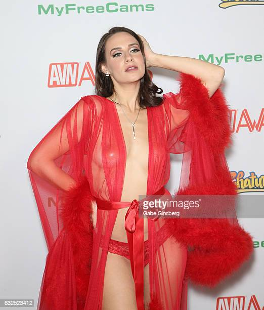 Adult film actress Cassidy Klein attends the 2017 Adult Video News Awards at the Hard Rock Hotel Casino on January 21 2017 in Las Vegas Nevada