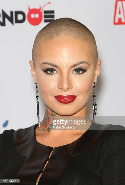 Adult film actress Christy Mack arrives at the 2015 Adult Video News Awards at the Hard Rock Hotel Casino on January 24 2015 in Las Vegas Nevada