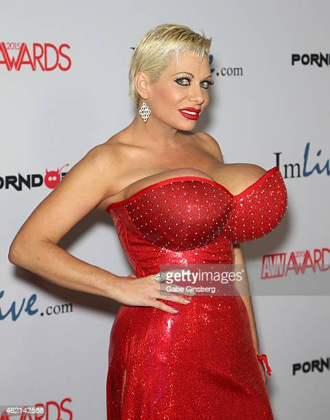 Adult film actress Claudia Marie arrives at the 2015 Adult Video News Awards at the Hard Rock Hotel Casino on January 24 2015 in Las Vegas Nevada
