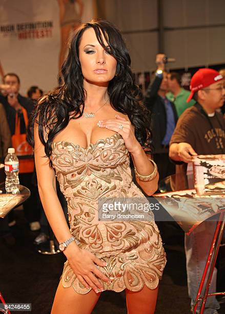Adult film actress Elektra Blue attends day 2 of the 2009 AVN Adult Entertainment Expo at the Sand Expo Convention Center on January 10 2009 in Las...