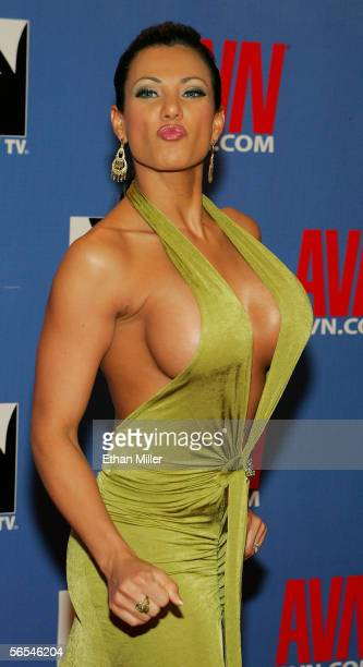 Adult film actress Exotica arrives at the Adult Video News Awards Show at the Venetian Resort Hotel and Casino January 7 2006 in Las Vegas Nevada