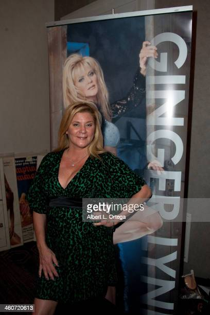 Adult film actress Ginger Lynn Allen attends The Hollywood Show at Lowes Hollywood Hotel on January 4 2014 in Hollywood California