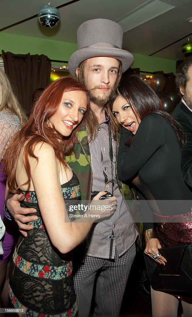 Adult film actress Heather Pink, Liam McMullan and Gia Jordan attend New Year's Eve 2013>> at Bamboo 52 on December 31, 2012 in New York City.