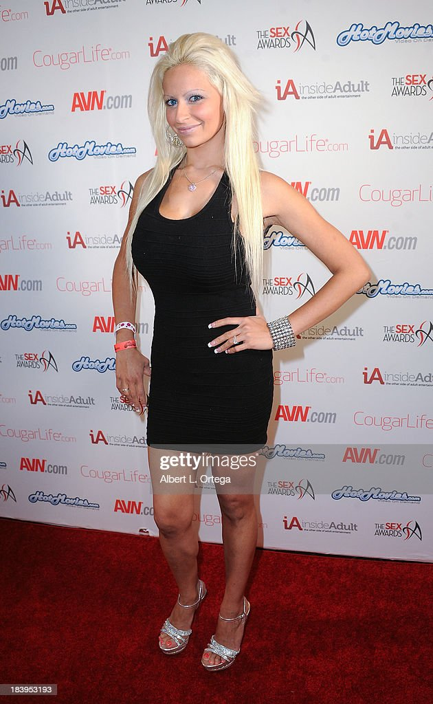Adult film actress Holly Brooks arrives for The 1st Annual Sex Awards 2013 held at Avalon on October 9, 2013 in Hollywood, California.