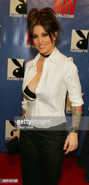 Adult film actress Janine Lindemulder arrives at the Adult Video News Awards Show at the Venetian Resort Hotel and Casino January 7 2006 in Las Vegas...